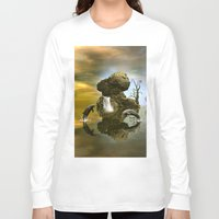 dolphins Long Sleeve T-shirts featuring Playing dolphins  by nicky2342
