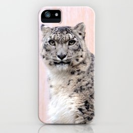 Snow Leopard in Pink iPhone Case