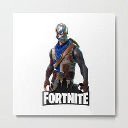 Fornite Battle Metal Print