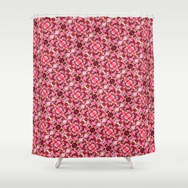 Red and pink flower pattern Shower Curtain