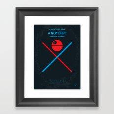 No154 My SW Episode IV minimal movie poster Framed Art Print