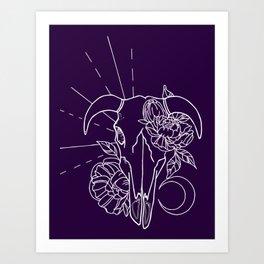 New Moon Blackout Art Print