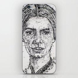 EMILY DICKINSON - ink portrait iPhone Skin