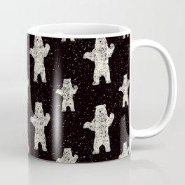 Polar Bear in Winter Snow on Black - Wild Animals - Mix & Match with Simplicity of Life Coffee Mug