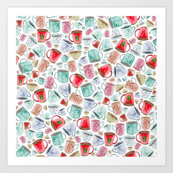 Hot Chocolate, Christmas, Tea, Coffee Art Print
