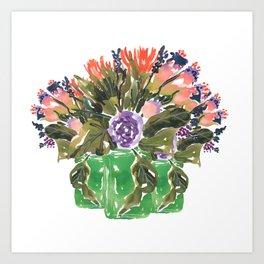 peachy floral arrangement Art Print