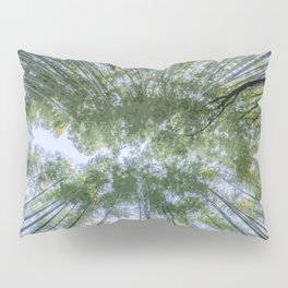Looking up the Bamboo Trees and the Sky Pillow Sham