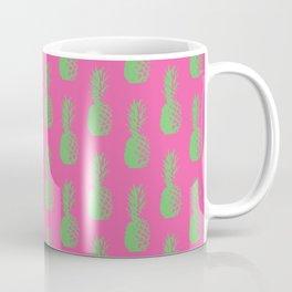 Pineapples - Pink & Green #464 Coffee Mug