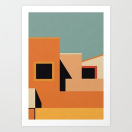 Summer Urban Landscape Art Print