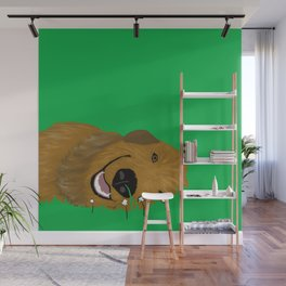 Goldendoodle in Grass Wall Mural