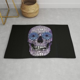 Skull Art - Day Of The Dead 2 Stone Rock'd Rug