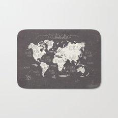 The World Map Bath Mat
