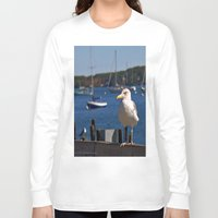 maine Long Sleeve T-shirts featuring Maine Local by Catherine1970