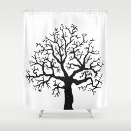Fickle Tree Shower Curtain