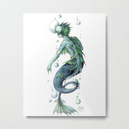 Mermaid 3 Metal Print