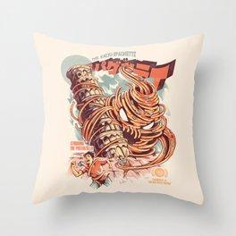 The Kaiju Spaghetti Throw Pillow