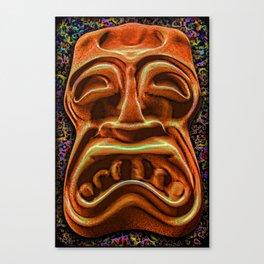 Stony Orange Tiki Canvas Print