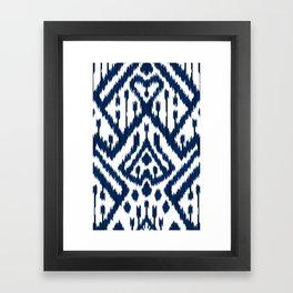 Indigo ikat 10 Framed Art Print