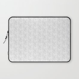 Black and white flower pattern Laptop Sleeve