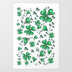 Lucky on my side Art Print