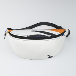Audrey So Beautful In Orange and Blue Fanny Pack