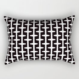 Geometric Pattern 207 (black white) Rectangular Pillow