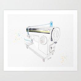 Vintage Singer 964 Sewing Machine Art Print