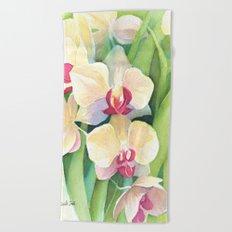 Cascading orchids Beach Towel