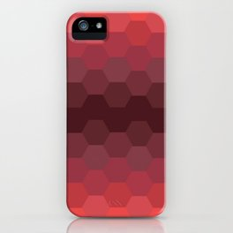Red Honeycomb iPhone Case
