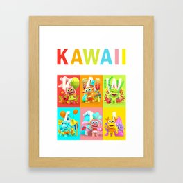 Kawaii Poster Framed Art Print