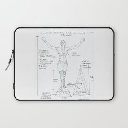 Victory Drawing, Transitions through Triathlon Laptop Sleeve