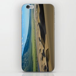 Great Sand Dunes against mountains iPhone Skin
