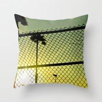 santa monica Throw Pillows featuring Santa Monica by Nicole Stamsek