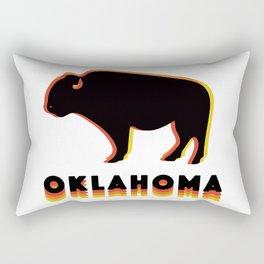 Retro Buffalo Rectangular Pillow