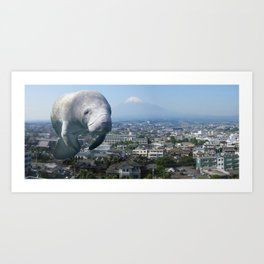 Oh, the HUGE MANATEE! Art Print