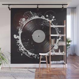 Retro record Wall Mural