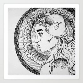 Horn Boy Art Print