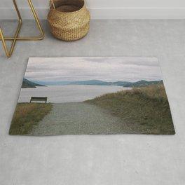 view of okanagan lake from knox mountain Rug