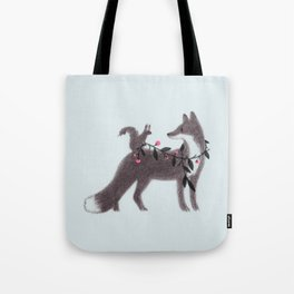 Squirrel and Fox Tote Bag