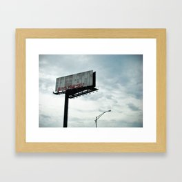 ITS YOUR HEART RAMBO Framed Art Print