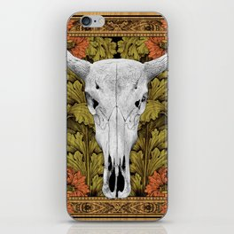 Cow Skull - Bohemian Decoration iPhone Skin