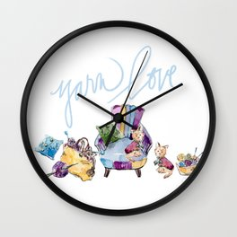 Yarn Love Wall Clock