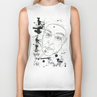 hunter s thompson Biker Tanks featuring Hunter S Thompson by Nicostman