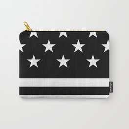 Stars & Stripes (Black/White) Carry-All Pouch