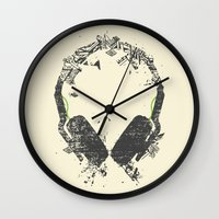 deadmau5 Wall Clocks featuring Art Headphones V2 by Sitchko Igor