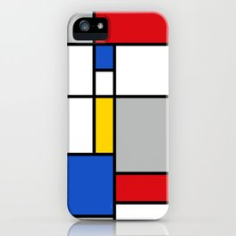 Mondrian Style Color Composition iPhone Case