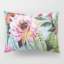 Watercolor Flowers Art Work Pillow Sham