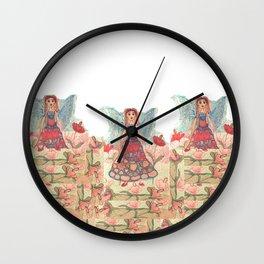 Three Litte Fairies Wall Clock