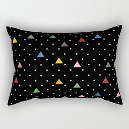 Pin Point Triangles Black Rectangular Pillow