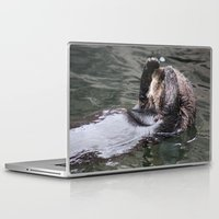 otter Laptop & iPad Skins featuring Otter by RMK Photography